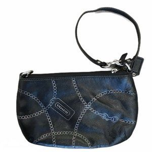 Coach Bags - Coach Black Leather Wristlet Clutch Purse